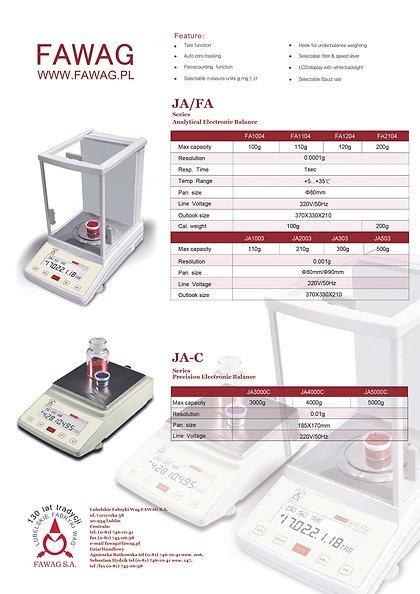 Fawag Analytical Balance JA2003
